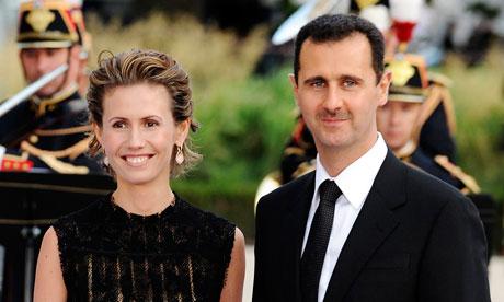 Bashar and Asma al-Assad