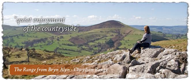 The Range from Bryn Alyn - Clwydian Range AONB