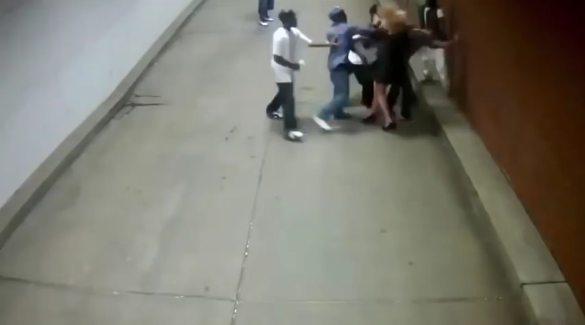 Young women punched in the face