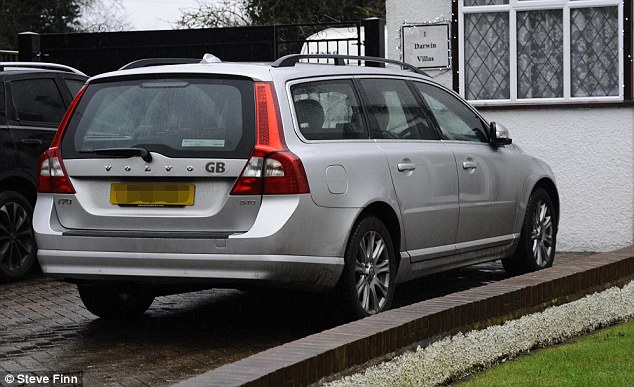 Mr Farage's Volvo, which was involved in the incident. When the emergency services arrived, they told a shaken Mr Farage that he had been the victim of a malicious act