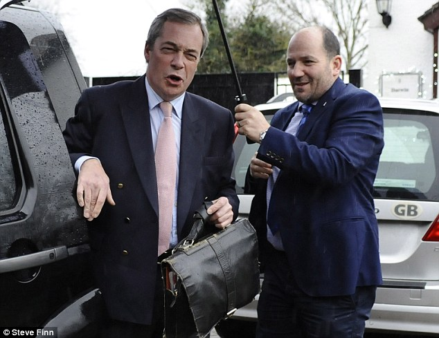 'Target': Nigel Farage (pictured today) claims he was the victim of an assassination attempt, after he careered off a French road when a wheel on his Volvo came loose while he was driving back to his home in Kent