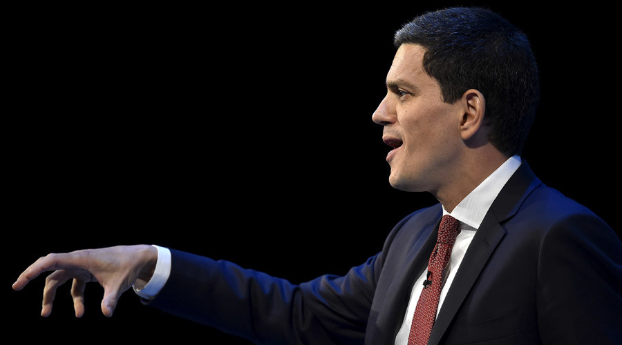 British politician and CEO of relief agency International Rescue Committee, David Miliband © Toby Melville
