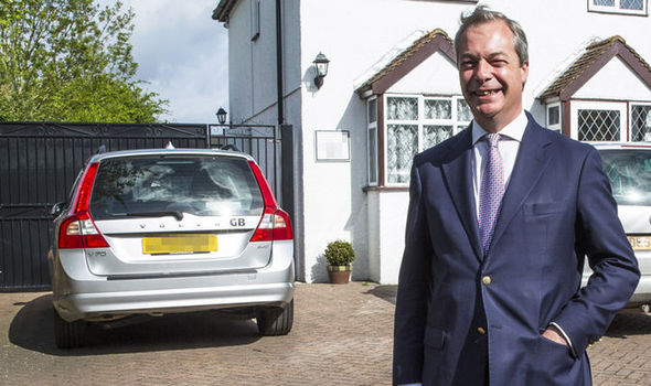 Farage and car