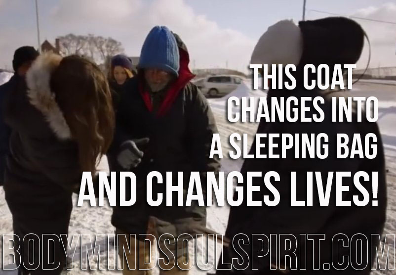 This Coat Changes Into A Sleeping Bag And Changes Lives!