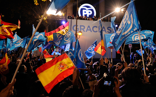 Spain faces a political headache after the conservatives won a weekend election but lost their absolute majority
