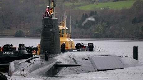 Crew from HMS Vengeance, a British Royal Navy Vanguard class Trident Ballistic Missile Submarine. © David Moir