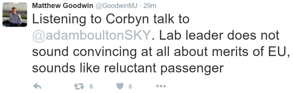 Matt Goodwin Corbyn EU Tweet 20-02-16