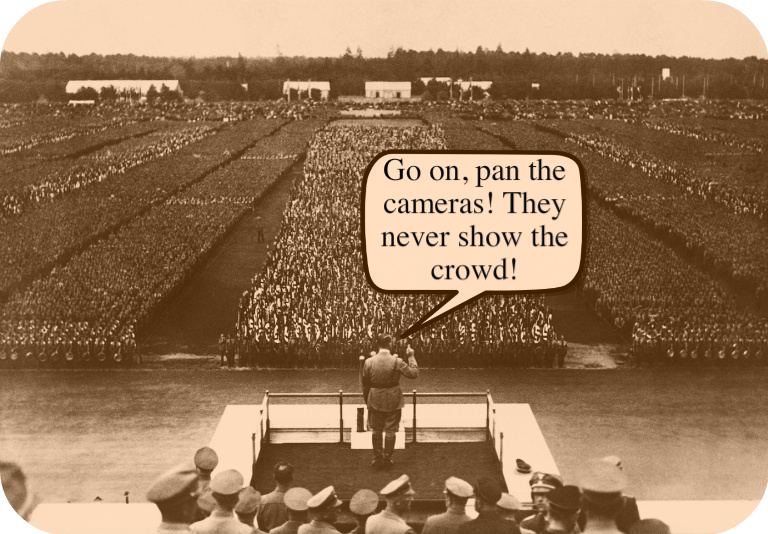 donald trump adolf hitler crowds