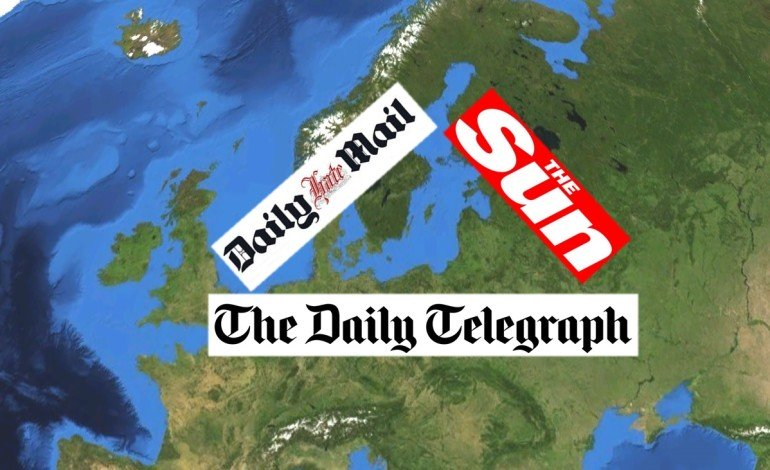 The British press is seen as the most 'right-wing' and 'biased' in Europe