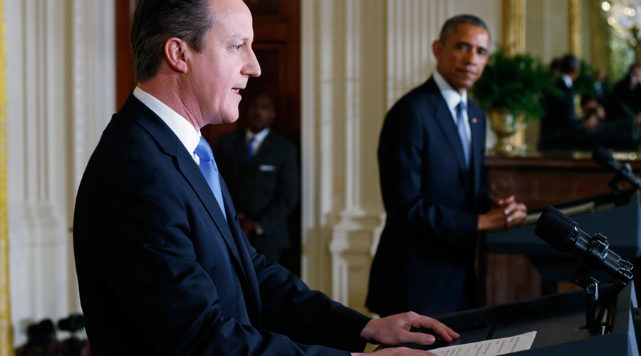 U.S. President Barack Obama, British Prime Minister David Cameron © Kevin Lamarque