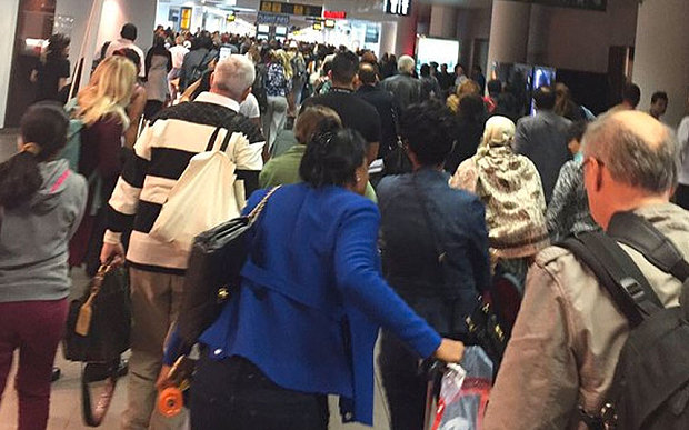 Brussels airport being evacuated after multiple explosions