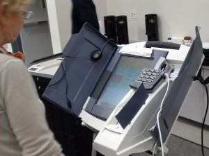 Voting machine, via Wikimedia Commons
