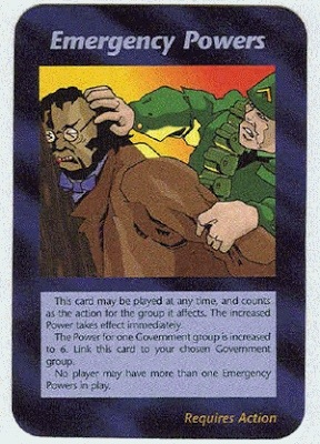 Illuminati Card Emergency Powers