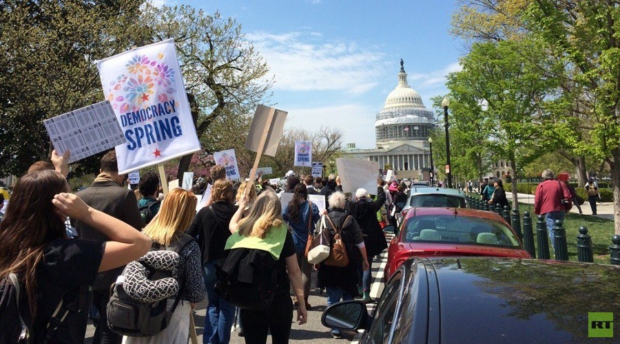Protesters reach the US Capitol © Caleb Maupin