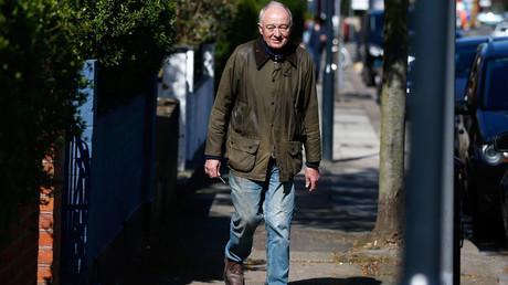 Former London Mayor Ken Livingstone leaves his home in London, Britain April 29, 2016. © Peter Nicholls