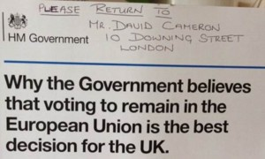 Angry Voters Return EU 'Propaganda' Leaflets Back To Downing Street