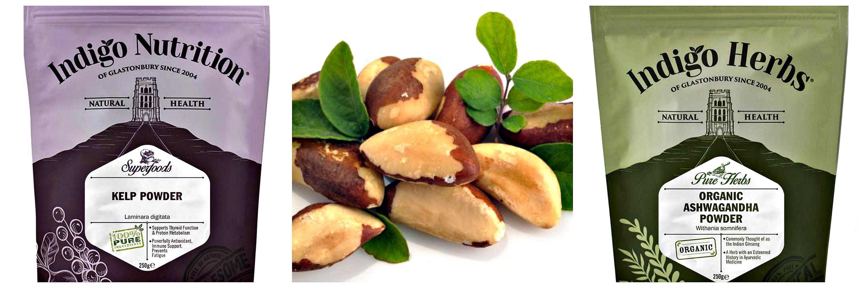 Kelp Powder, Brazil Nuts, Ashwagandha Powder