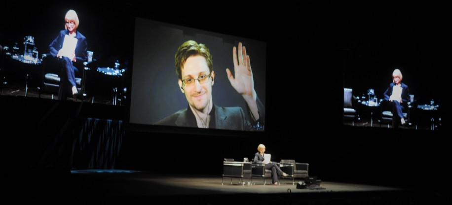 Snowden spoke to an audience of more than 3,000 at President Petter's Dream Colloquium on Big Data.