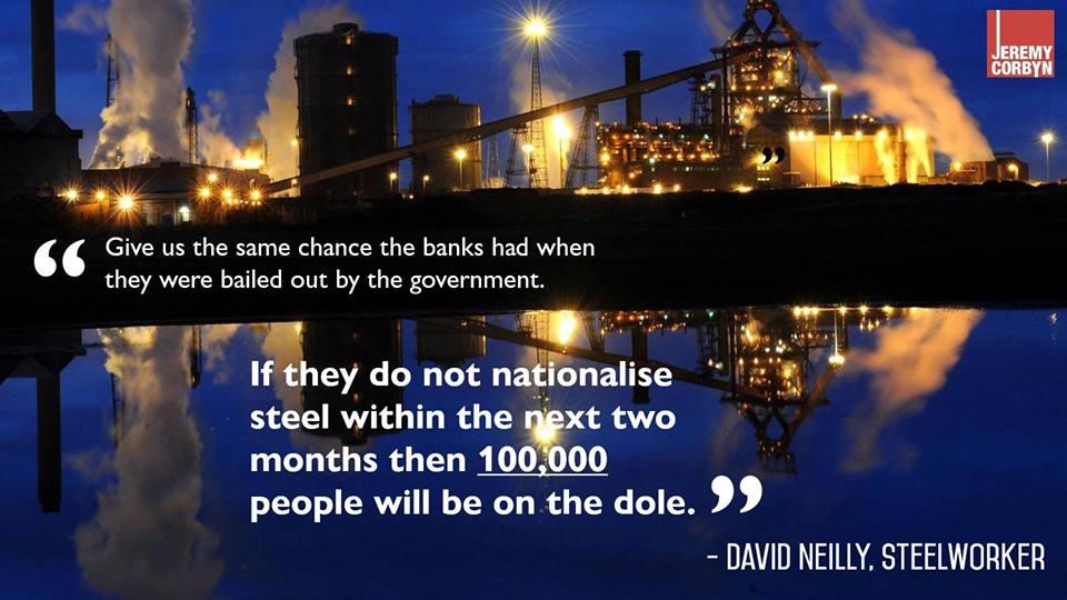 nationalise steel soon