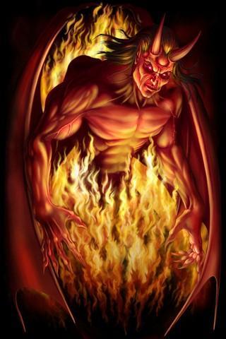 satan flames