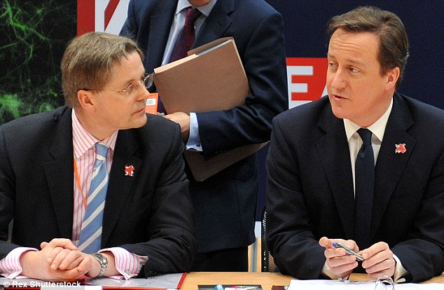 Mandarin: Sir Jeremy Heywood, pictured with David Cameron is supposed to ensure the integrity of the civil service