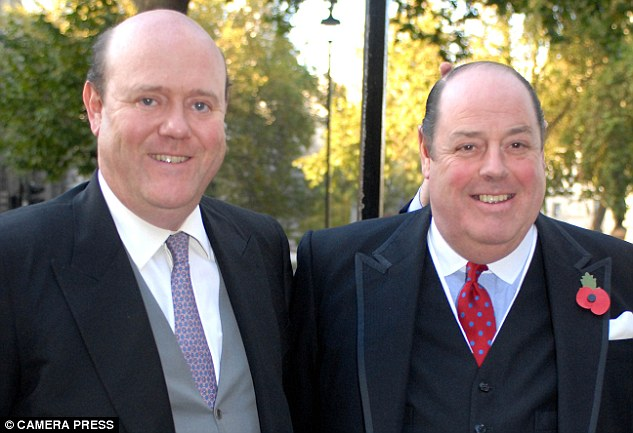 Pro-Europeans: Rupert Soames (left) with his Tory grandee brother Nicholas (right)