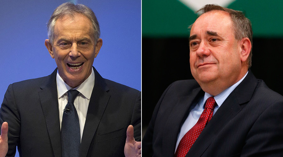 Former British Prime Minister Tony Blair (L) and Alex Salmond, the Former Scottish National Party © Brendan McDermid
