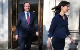 David Cameron and his wife Samantha voting in the recent local elections