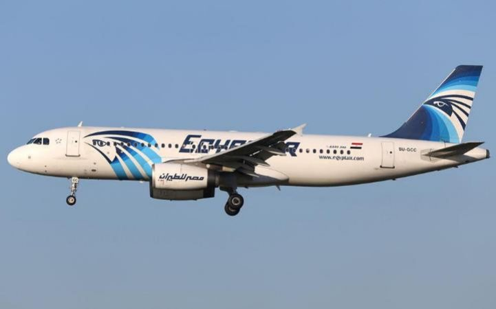 The missing EgyptAir aircraft with the plane registration visible