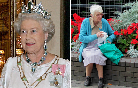 As the Queen celebrates, a huge number of other pensioners face dire poverty