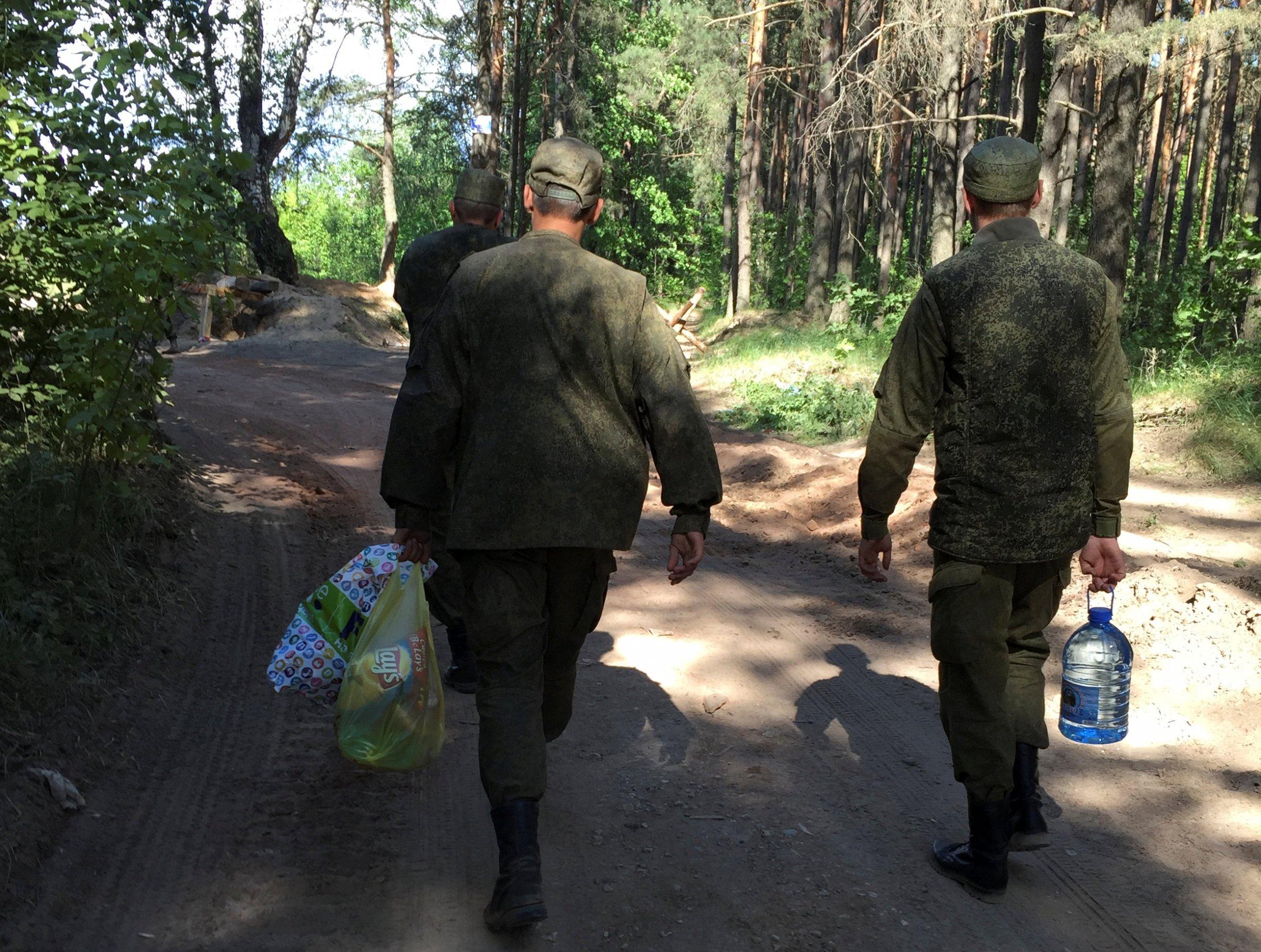 Russian army in Klintsy