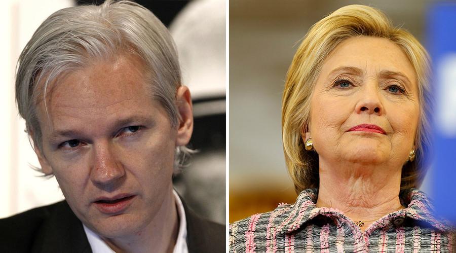 """Wikileaks founder Julian Assange targets """"war hawk"""" Hillary Clinton © Reuters"""
