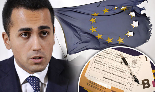 Italy's Luigi Di Maio has called for a referendum as France, Holland and Denmark follow Britain