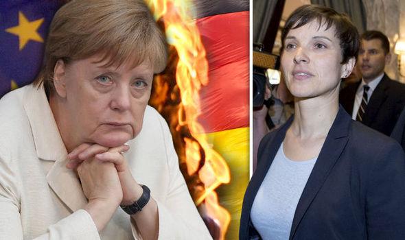 Frauke Petry is calling for a German EU referendum