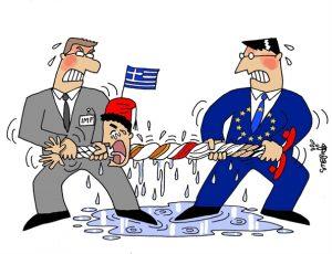 IMF- EU and Greece -tug-of war