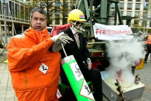 Anti-fracking protesters in Hannover