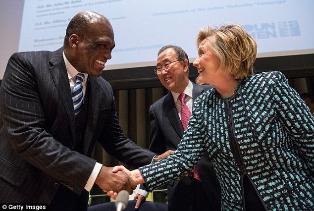 John Ashe with Hillary