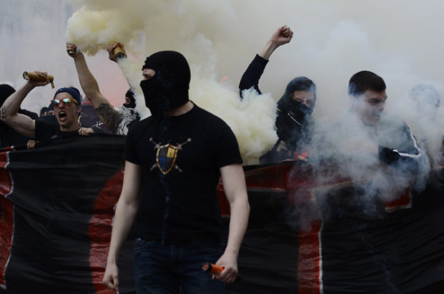 Ukrainian Ultras, specially imported for the purpose