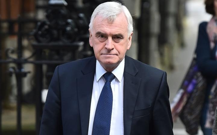 John McDonnell has said Mr Corbyn will not resign