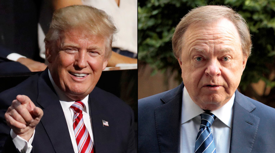 U.S. Republican Presidnetial nominee Donald Trump and Harold Hamm, founder and CEO of Continental Resources © Reuters