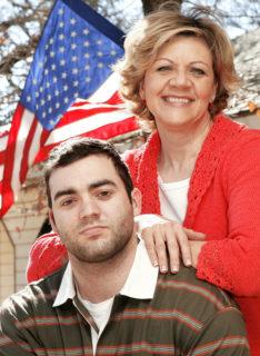 Iraq war veteran Joe Collins, and his mother, Cynde Collins-Clark.