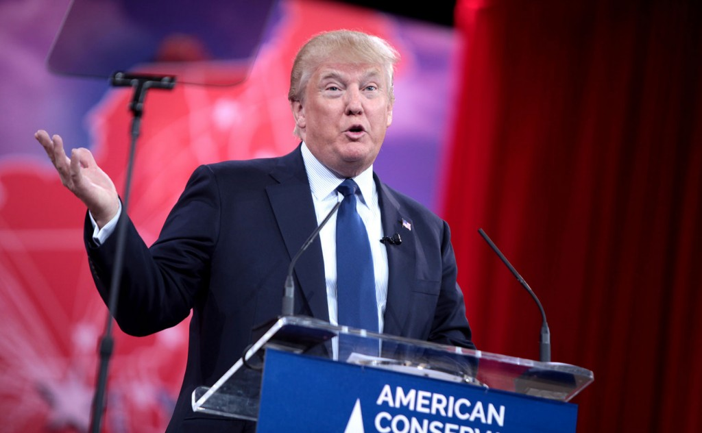 Donald Trump speaking at the 2015 Conservative Political Action Conference (CPAC) in National Harbor, Maryland. (IMAGE: Gage Skidmore, Flickr).