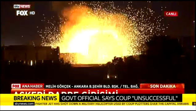 SKY LIVE COUP IN TURKEY. TWO EXPLOSIONS HIT PARLIAMENT. ATATURK AIRPORT EXPLOSIONS2