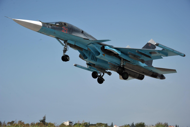 Russian aircraft at Hemeimeem Air Base in Syria