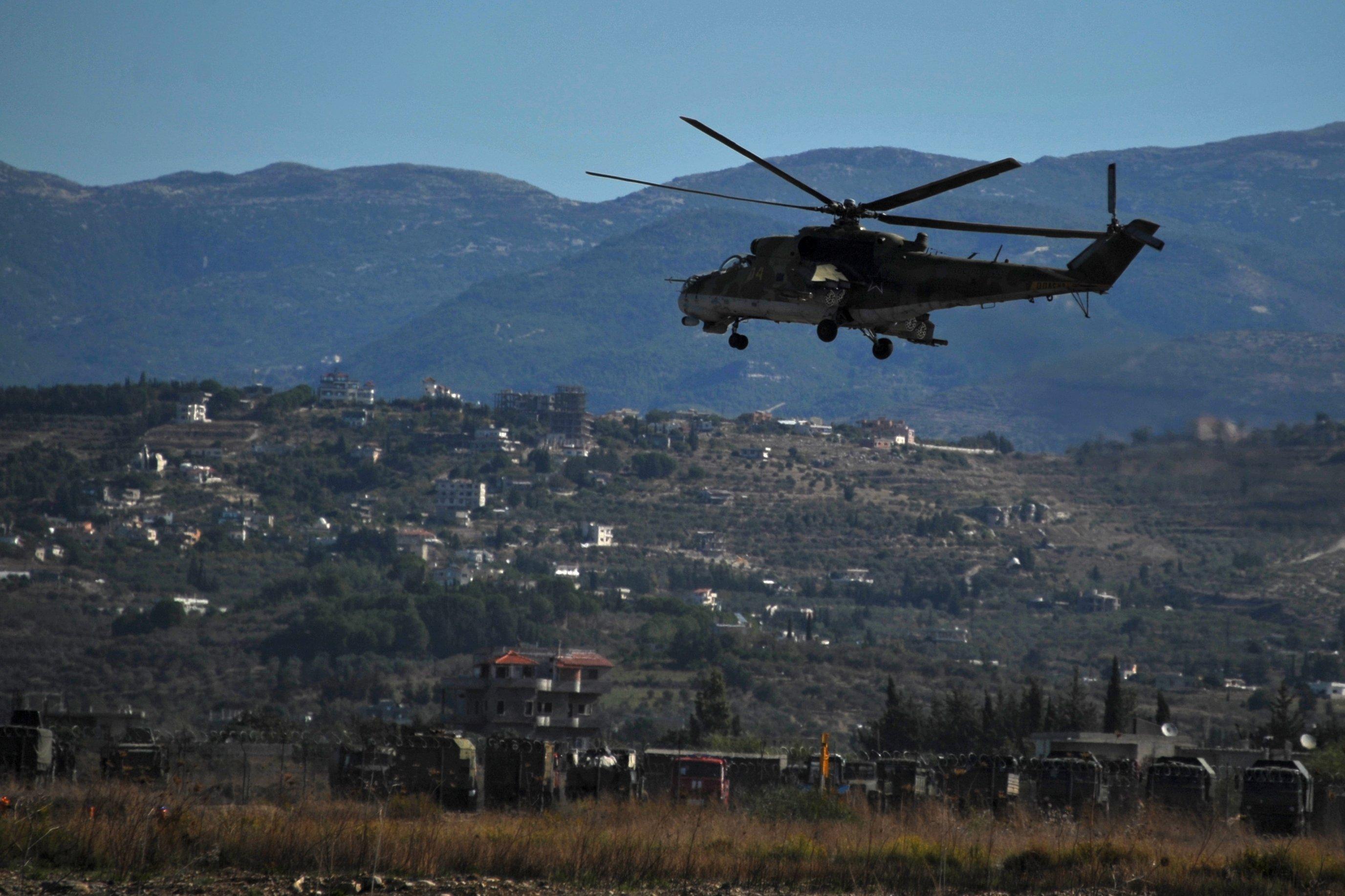 Russian warplanes at Hemeimeem air base in Syria