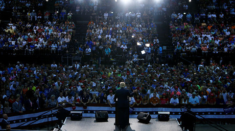 Republican Presidential nominee Donald Trump attends a campaign event in Daytona Beach, Florida on August 3, 2016 © Eric Thayer