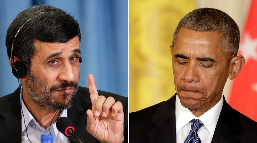 Former Iran's President Mahmoud Ahmadinejad (L), U.S. President Barack Obama. ©Reuters