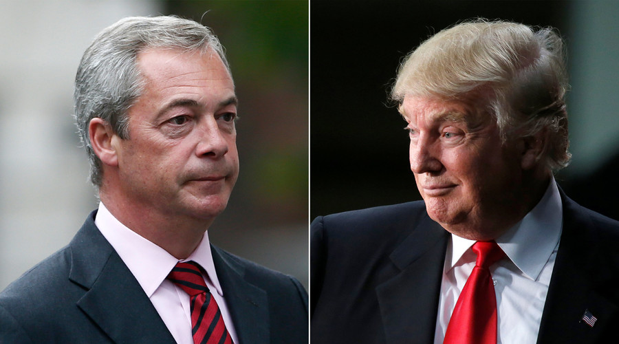Nigel Farage (L), Donald Trump (R) © Reuters