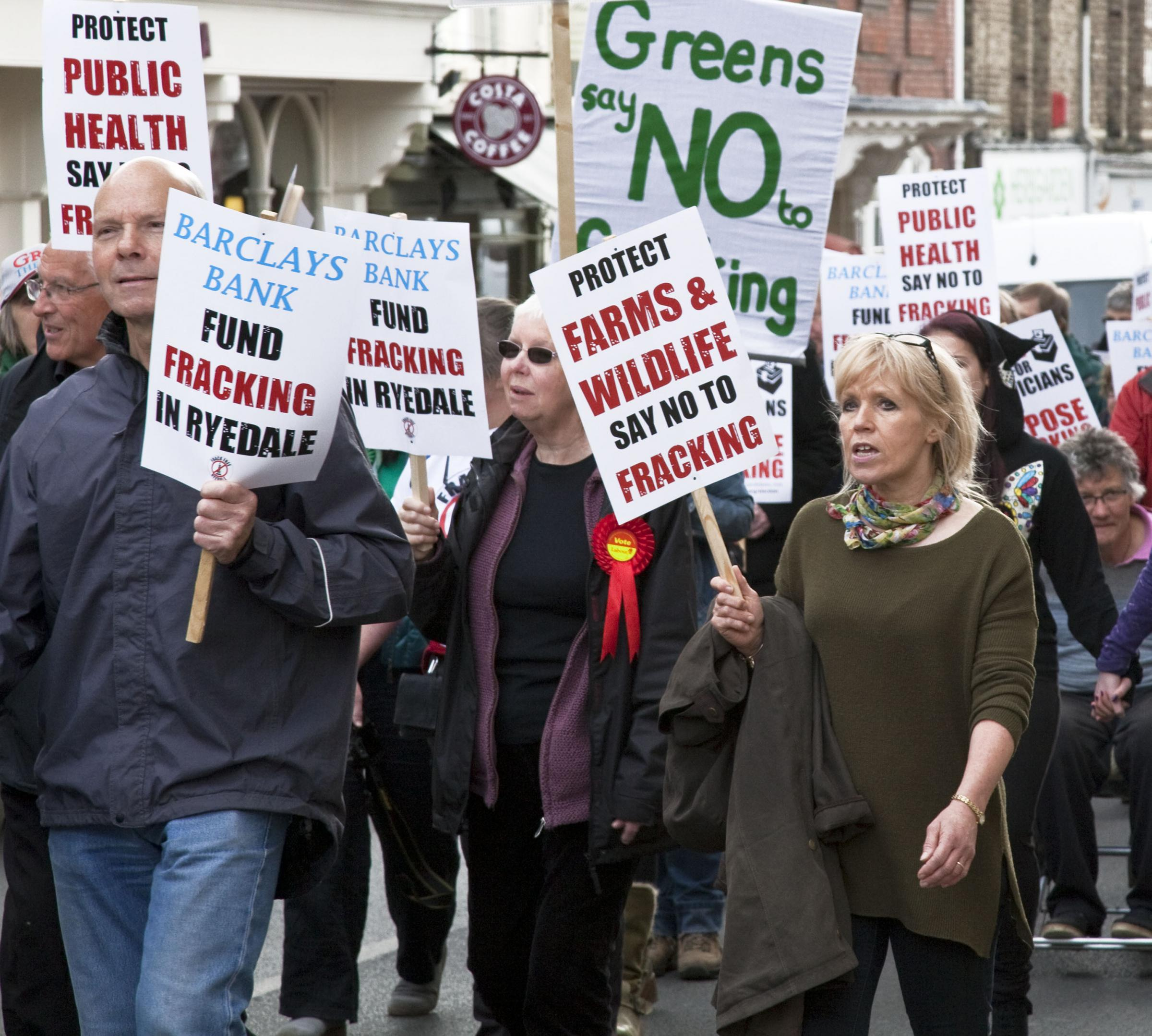 Frack Free Ryedale protestors, who will stage a rally in Old Malton