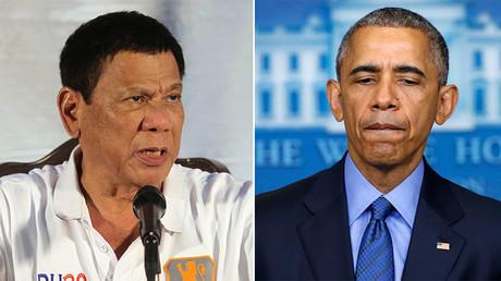 Philippine President Rodrigo Duterte (L) and U.S. President Barack Obama. ©Reuters